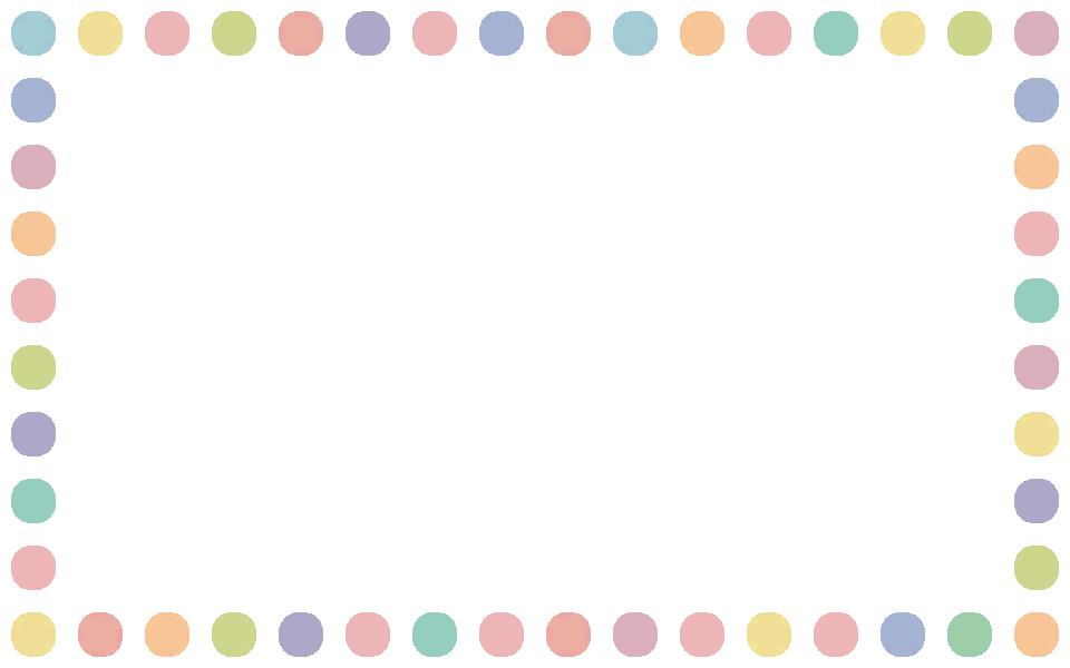 手書き風のドット柄水玉模様フレーム飾り枠イラスト 無料フリー