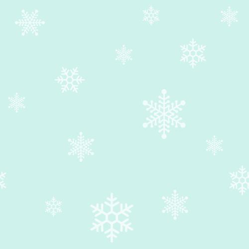 クリスマス(雪の結晶)のシームレス背景パターン<水色>(W500×H500px)