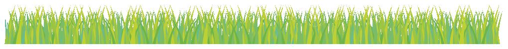 芝生のライン飾り罫線イラスト(W1000×H80px)