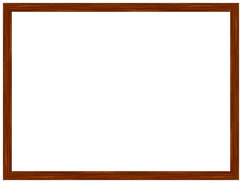木製木目調の額縁フレーム飾り枠イラスト 無料フリーイラスト素材