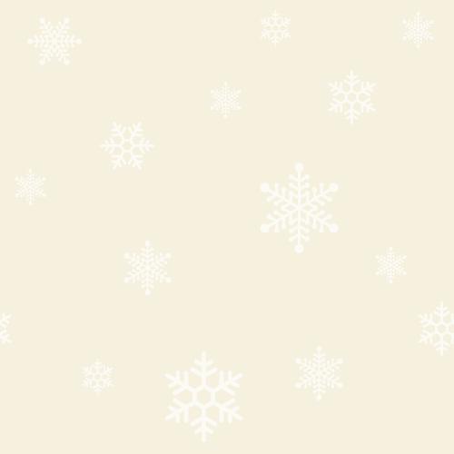 クリスマス(雪の結晶)のシームレス背景パターン<ベージュ(シャンパンゴールド)>(W500×H500px)