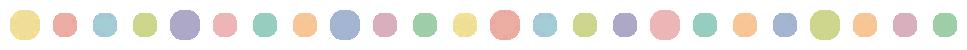 手書き風のドット柄(水玉模様)ライン飾り罫線イラスト(W947×H30px)