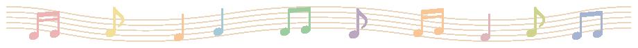 楽譜(音符・五線譜)のライン飾り罫線イラスト<波線>(W900×H50px)