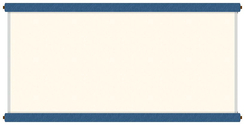 巻物(掛け軸)のフレーム飾り枠イラスト<青色>(W800×H400px)