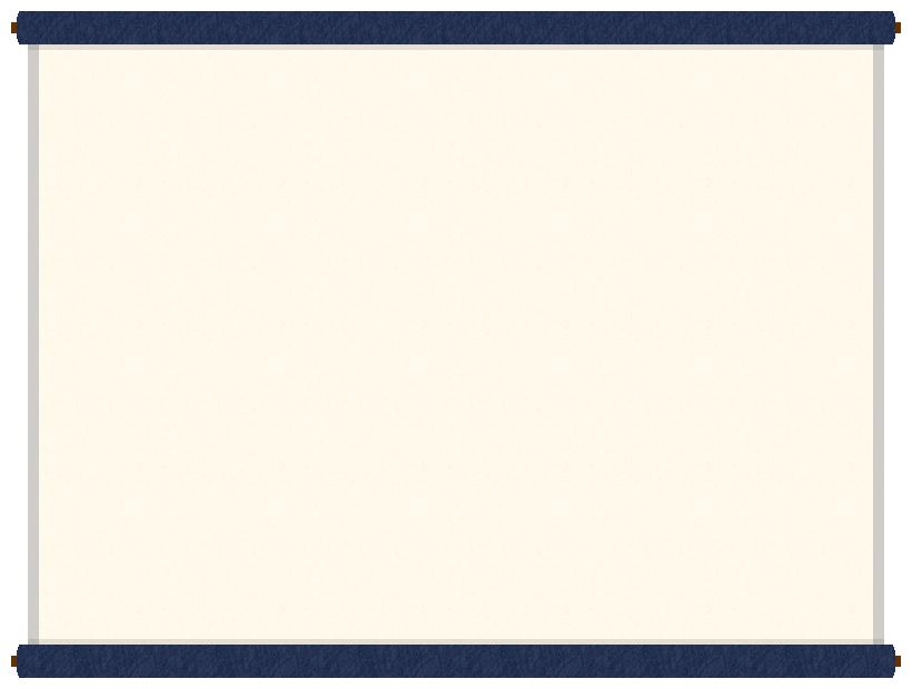 巻物(掛け軸)のフレーム飾り枠イラスト<紺色>(W800×H600px)