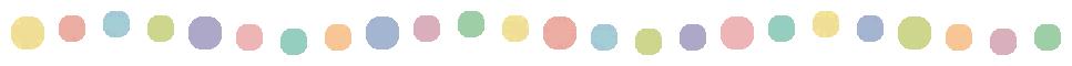 手書き風のドット柄(水玉模様)ライン飾り罫波線イラスト(W947×H30px)
