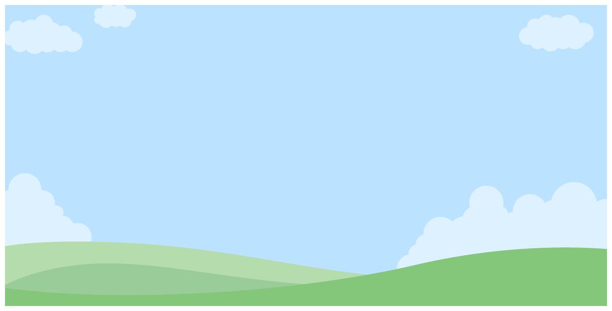 [風景のイラスト背景]雲が浮かぶ青空とビルのシルエットの街並み(W1200×H600px)