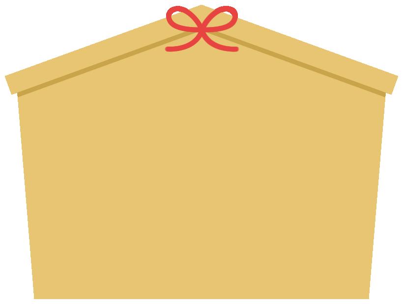 絵馬のフレーム飾り枠イラスト(W800×H600px)