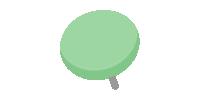 二重画鋲(押しピン)のイラスト素材<緑・グリーン>(W80×H80px)