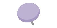 二重画鋲(押しピン)のイラスト素材<紫・パープル>(W80×H80px)