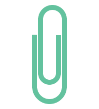 ゼムクリップのイラスト素材<緑>(W70×H200px)