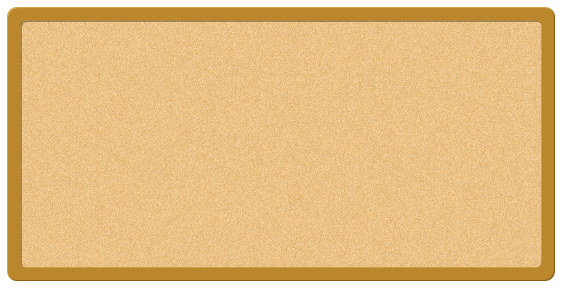 コルクボード(掲示板)のフレーム飾り枠イラスト(W800×H400px)