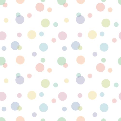 パステルカラーの水玉模様(ドット柄)背景パターンイラスト<小>(W500×H500px)