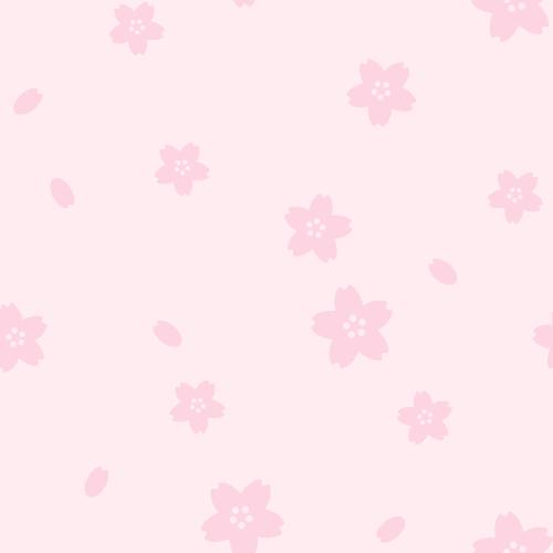 桜のシームレス背景パターン<ピンク色>(W500×H500px)