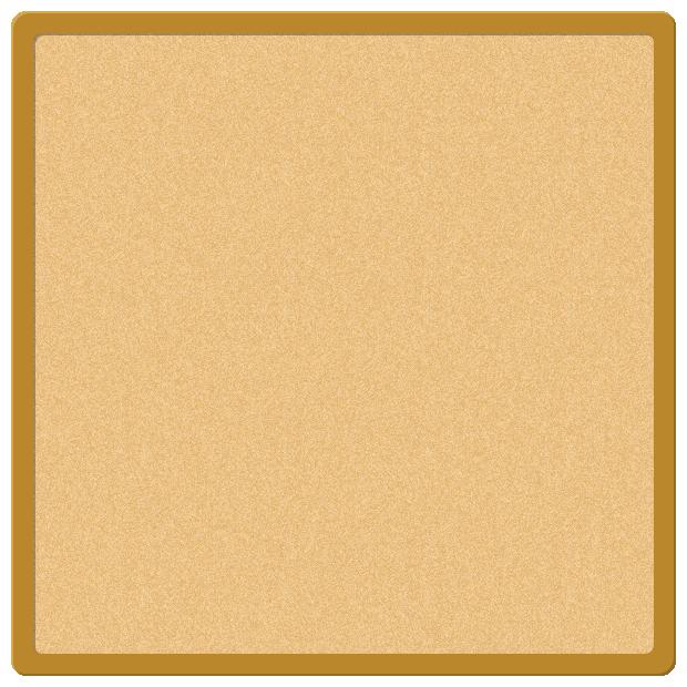 コルクボード(掲示板)のフレーム飾り枠イラスト(W600×H600px)
