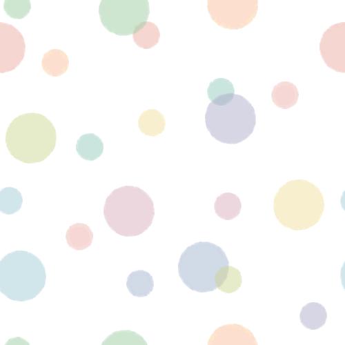 パステルカラーの水玉模様(ドット柄)背景パターンイラスト<大>(W500×H500px)