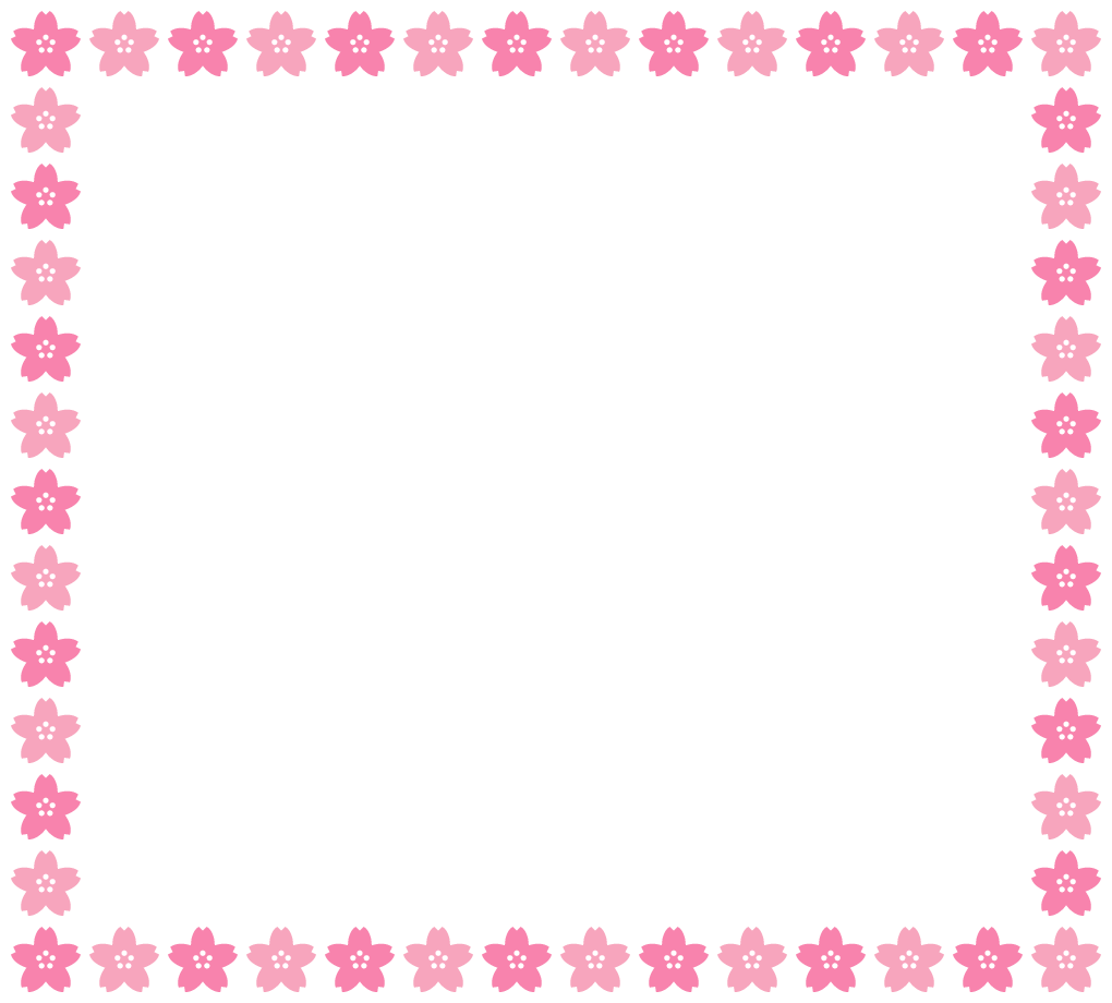 桜のフレーム飾り枠イラスト(W1000×H920px)