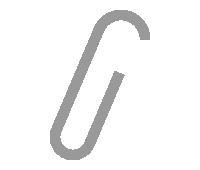 紙に挟んだゼムクリップのイラスト素材<シルバー>(W100×H150px)
