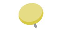 二重画鋲(押しピン)のイラスト素材<黄色・イエロー>(W80×H80px)