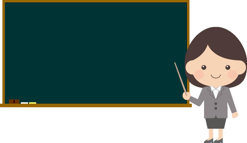 黒板で説明する女性(OL・ビジネスウーマン)<全身>