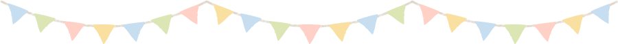 三角フラッグ(アーチ型)のライン飾り罫線イラスト(W900×H65px)