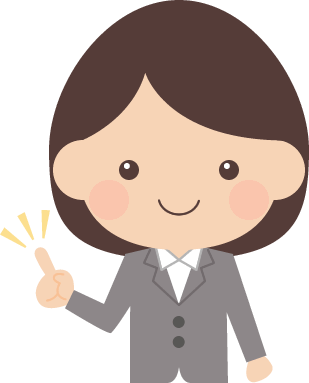 指差しポーズをするol女子社員のイラスト 無料フリーイラスト素材