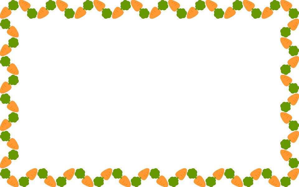 野菜のイラスト人参ニンジンにんじんのフレーム飾り枠 無料