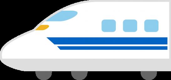 新幹線(700系)のイラスト<先頭車両>