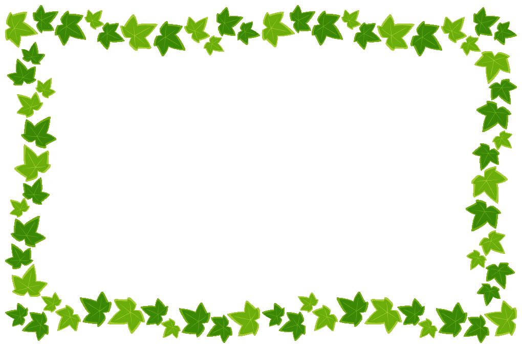 アイビー(蔦・つた)のフレーム飾り枠イラスト(W1000×H660px)