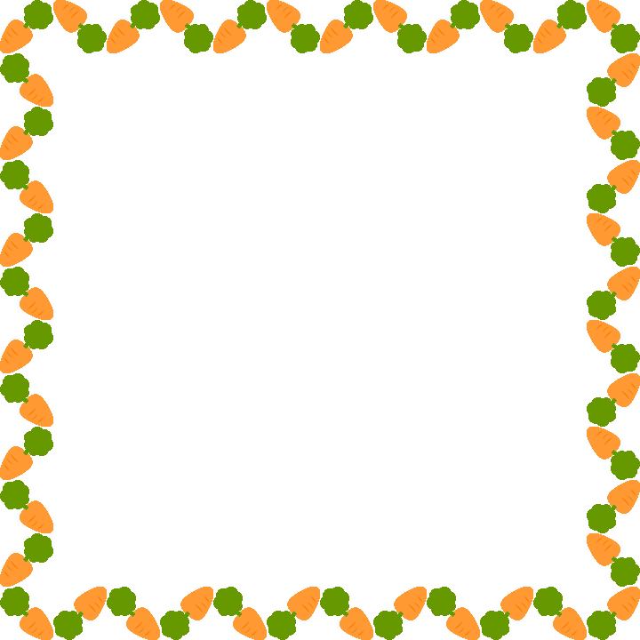 人参(ニンジン・にんじん)のフレーム飾り枠イラスト<正方形>
