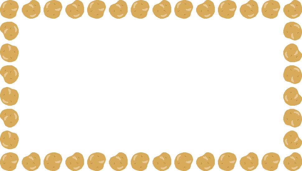 野菜のイラスト ジャガイモ じゃがいも のフレーム飾り枠 無料フリーイラスト素材集 Frame Illust