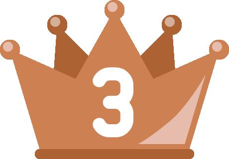 フラットな王冠イラスト<ランキング3位>