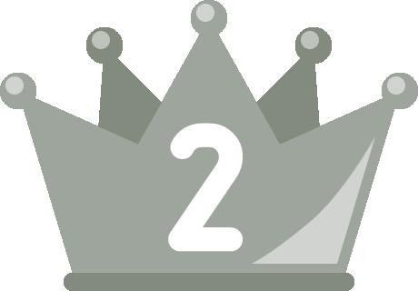 フラットな王冠イラスト<ランキング2位>