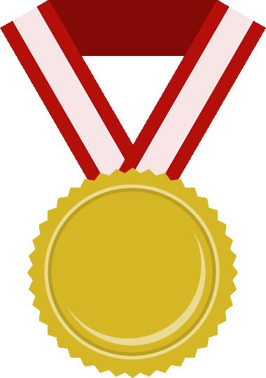 金メダルのフラットイラスト