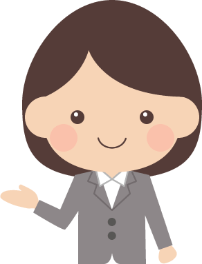 案内・紹介ポーズをするOL(女子社員)のイラスト<上半身>
