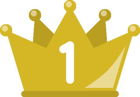 フラットな王冠イラスト<ランキング1位>