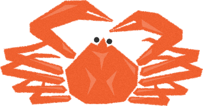 ズワイガニ(ずわいがに)の挿絵イラスト<茹で蟹・ボイル>
