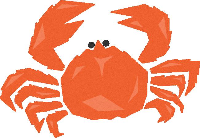 タラバガニ(たらばがに)の挿絵イラスト<茹で蟹・ボイル>