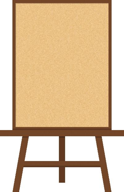 イーゼル付ウェルカムボード(メニュー看板)<縦向き:コルクボード>