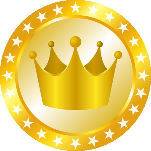 メダル型王冠イラスト 金 銀 銅 無料フリーイラスト素材集 Frame Illust