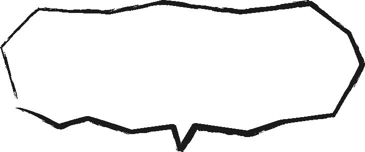 [毛筆・墨絵]カクカクした手書き風吹き出し(ふきだし)イラスト<小>