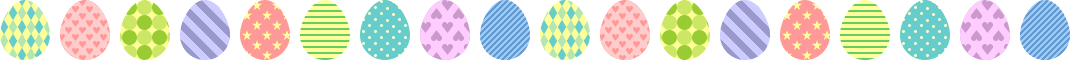 イースターエッグ(タマゴ)のライン飾り罫線イラスト