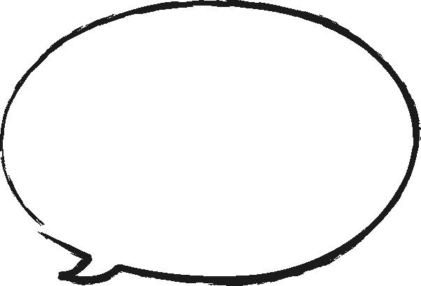 [毛筆・墨絵]手書き風楕円形の吹き出し(ふきだし)イラスト<小>