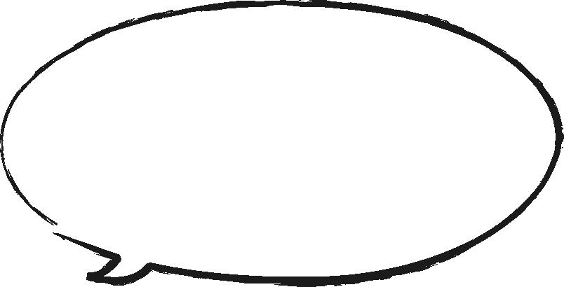 [毛筆・墨絵]手書き風楕円形の吹き出し(ふきだし)イラスト<大>