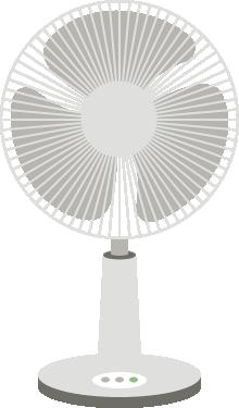 [白物家電]扇風機のイラスト<小>