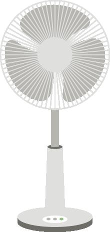 [白物家電]扇風機のイラスト<大>