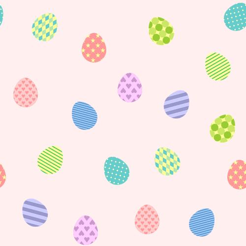 イースターエッグ(タマゴ)の背景パターンイラスト<ピンク>