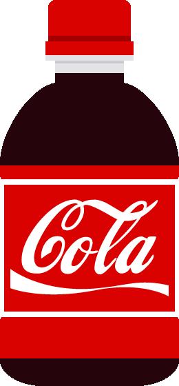ペットボトル(コーラ)のイラスト<小>