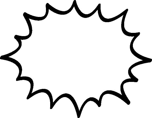 [爆発]ギザギザした吹き出し(ふきだし)イラスト<太線>