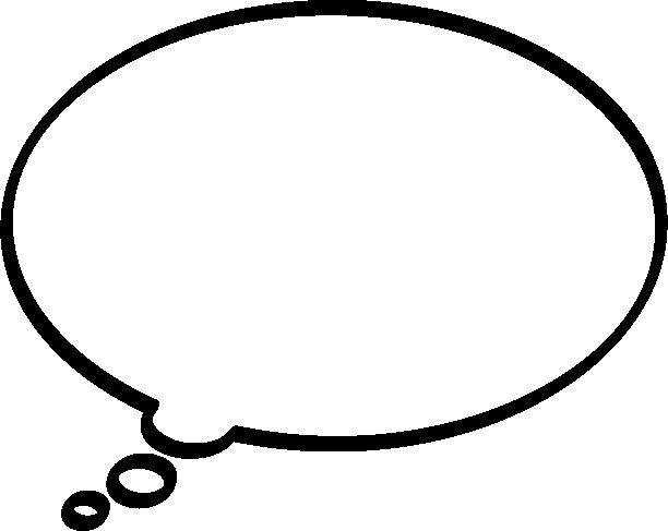 [思考・妄想]楕円形の吹き出し(ふきだし)イラスト<太線>